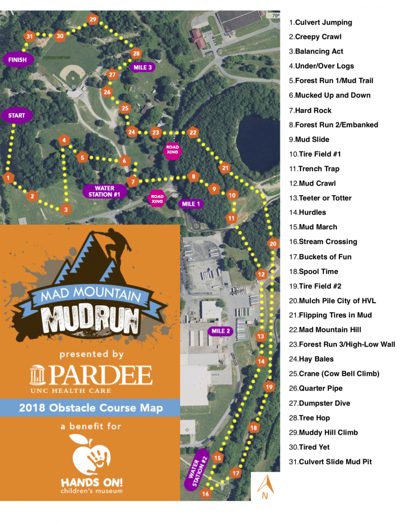 Mud Run Obstacle Map Website | Mad Mountain Mud Run